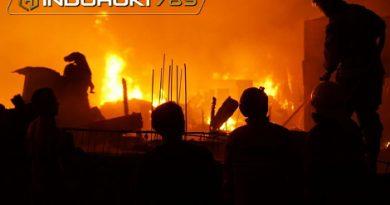 Kebakaran Dekat Pasar Kambing Bangka, Puluhan Lapak Pemulung Hangus